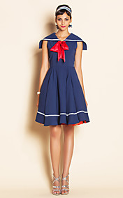 TS VINTAGE Sailor Collar Bow Tie Dress