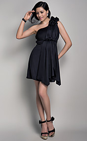 Sheath/Column One Shoulder Short/Mini Spandex Maternity Bridesmaid Dress