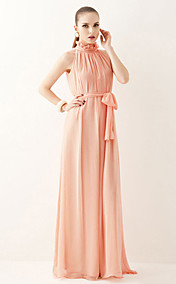 Women's Belted Pleated Maxi Dress
