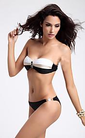 Women's Fashion Lovely Buckle Black Swimwear