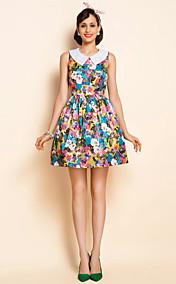 TS VINTAGE Print Lapel Dress