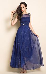 TS Stars Pattern Chiffon Maxi Dress