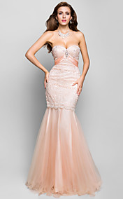 Trumpet/Mermaid Sweetheart Floor-length Lace Evening Dress