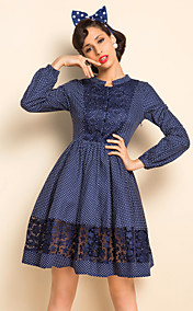 TS VINTAGE Polka Dots Lace Dress