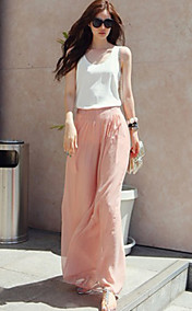 Yibufan Loose Fit Wide Leg Long Pants