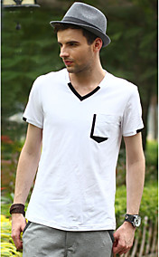 OHH  Basic V Neck Cotton T Shirt