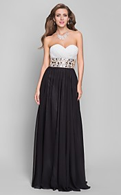 A-line Sweetheart Floor-length Chiffon Evening Dress (632779)