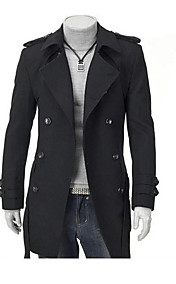 Men's Shoulder Pad Double Breasted Coat
