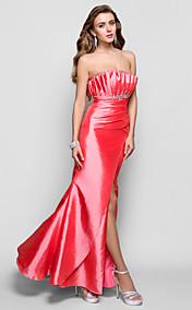 Trumpet/Mermaid Scallopped Floor-length Taffeta Evening Dress