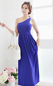Women's One Shoulder High Waist Maxi Dress