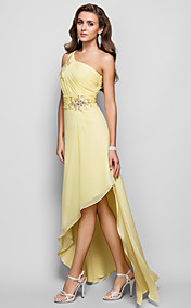 A-line/Princess One Shoulder Asymmetrical Chiffon Evening/Prom Dress