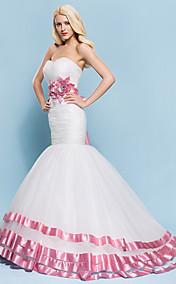 Trumpet/Mermaid Sweetheart Court Train Tulle Wedding Dress