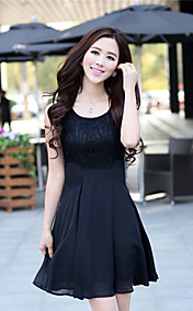 Women's Lace Embroidery Splicing Dress