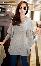 Women's V Neck Loose Cape Sleeve Sweaters