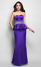 Trumpet/Mermaid Sweetheart Floor-length Crystal Detailing Charmeuse Evening Dress