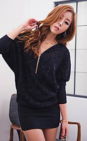 Women's Zipper Collar Cape Sleeve Flare&Fit Mini Dresses