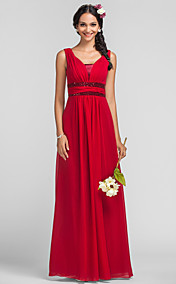 Sheath/Column Straps Floor-length Chiffon Sequined Evening Dress