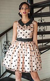 TS VINTAGE Polka Dots Swing Dress