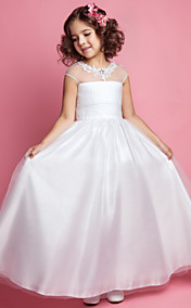 A-line Princess Jewel Tulle Flower girl Dress
