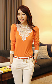 Women's Cute Lace Long Sleeve T-Shirt
