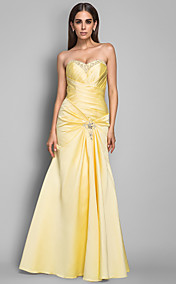 A-line Sweetheart Satin Evening Dress