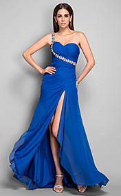 Sheath/Column One Shoulder Chiffon  Evening Dress