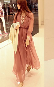 Women's Bohemian Beach Chiffon Maxi Dress