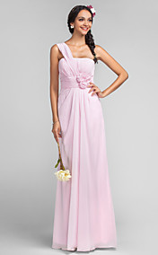 Sheath/Column One Shoulder Floor-length Chiffon Evening/Prom Dress
