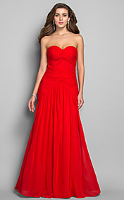 Trumpet/Mermaid Sweetheart Floor-length Chiffon Evening Dress (635892)