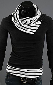 Men's crowl collar contrast color slim knit wear