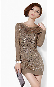 Women's Sequin Long Sleeve Mini Dress