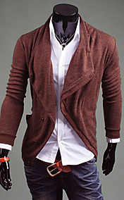 Men's crowl collar slopping breasted cardigan outwear