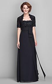Sheath/Column Strapless Floor-length Chiffon Mother of the Bride Dress (579749)