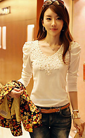 Women's Sweet Lace Crochet Splicing T-Shirt