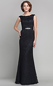 Trumpet/Mermaid Scoop Floor-length Lace And Satin Mother of the Bride Dress (605582)