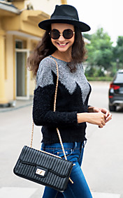 TS Contrast Color Sweater