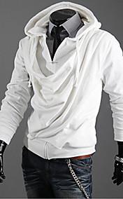 Men's Woolen Yarn Slimming Coat With Inclined Zipper Column Design