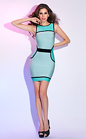 Sheath/Column Jewel Short/Mini Active Bandage Dress