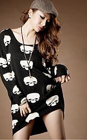 Women's Skull Print Asym Hem T-Shirt