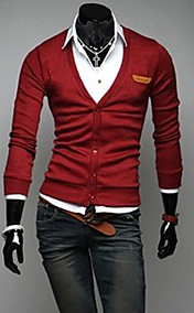 Men'S Slim Cardigan Knit Smart Top Wear