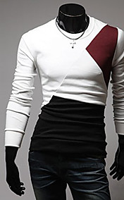 Men'S Casual Round Collar Long Sleeve T-Shirt