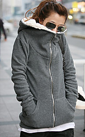 Women's Fleece Inside Hoodie Coat