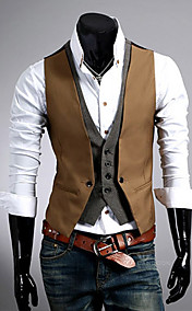 Men'S Slim Two Piece Like Vest