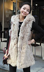 Women's Fur Fleece Vest Coat