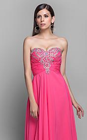 A-line/Princess Sweetheart Floor-length Chiffon Grace Evening Dress