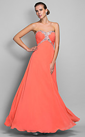 A-line Sweetheart Floor-length Chiffon Evening/Prom Dress (699401)