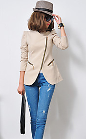 Women's Zipper Asym Hem Blazer