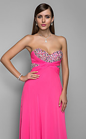 A-line/Princess Sweetheart Floor-length Chiffon Elegant Evening Dress