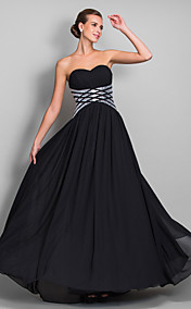 Sheath/Column Sweetheart Floor-length Chiffon Evening Dress (699405)