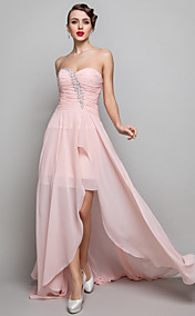Sheath/Column Sweetheart Floor-length Chiffon Evening Dress (682743)